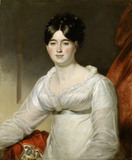 MARY ANNE VEVERS by Mather Brown (1761-1831) (post conservation)