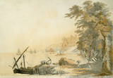 Late C18th watercolour at Penrhyn, showing the Pennant's Jamaican estate, one of six