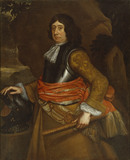 SIR EDWARD PHELIPS III (1638-99) by an unknown artist (1685) from the Great Hall at Montacute