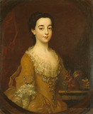 Portrait of a lady 3/4 length - Frances Ashcomb
