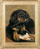 DASH, QUEEN VICTORIA'S FAVOURITE SPANIEL at Anglesey Abbey by Sir Edwin Landseer 1838