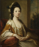 MARY WALSH, MRS RALPH CLAVERING, portrait by Angelica Kauffman, c.1780