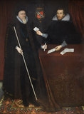 THOMAS, 1ST EARL OF DORSET WITH HIS SECRETARY, artist unknown