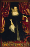 FRANCES PRINNE, LADY SEYMOUR OF TROWBRIDGE by William Larkin (fl c.1609-d1619)