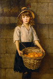 "AN ORANGE GIRL, signed and dated 1885, by Edward Patry RBA Inscribed ""Only an orange girl"""