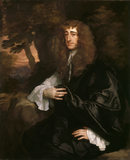 CHARLES BRUNE OF ATHELHAMPTON by Sir Peter Lely (1618-80) His neice Mary married Sir Ralph Bankes
