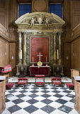 "The Chapel at Belton House, Lincolnshire, UK, looking towards the late seventeenth century altar installed by ""Young"" Sir John Bronwlow"