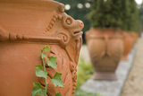 Planters with ram's head decoration on the South Terrace at Ham House, Surrey
