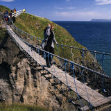 Carrick-a-Rede is a separate island off of the North Antrim Coastal Walk, Co Antrim, Northern Ireland