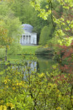 The Pantheon viewed over the lake at Stourhead, Wiltshire, UK