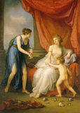 CUPID'S WOUND by Angelica Kauffman (1741-1807) in the Drawing Room at Attingham Park