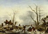 A WINTER LANDSCAPE by Philips Wouvermans (1619-1668) at Ascott