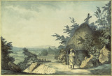 THE HERMITAGE AT SELBOURNE, HAMPSHIRE, WITH HENRY WHITE AS THE HERMIT, 1777, by Samuel Hieronymus Grimm (1734-1794)