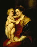 THE MADONNA AND CHILD by the Studio of Rubens
