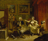 THE HARLOT'S PROGRESS: QUARRELS WITH HER PROTECTOR after William Hogarth (1697-1764) hung at Ascott