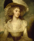MRS TICKELL by George Romney (1734-1802) at Ascott