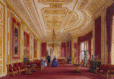THE CRIMSON DRAWING ROOM AT WINDSOR, by John Nash