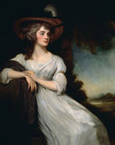THE HON REBECCA CLIVE, MRS ROBINSON (1760-95) by George Romney (1734-1802)