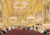 THE GRAND RECEPTION ROOM (CALLED PINK DRAWING ROOM) AT WINDSOR CASTLE by Joseph Nash (1808-1878)
