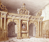 THE SCREEN IN THE GREAT HALL AT MONTACUTE by C J Richardson 1834