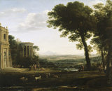 THE FATHER OF PSYCHE SACRIFICING AT THE TEMPLE OF APOLLO by Claude Lorrain (1600-1682)