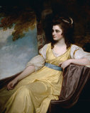 HON. CHARLOTTE CLIVE (1762-95) by George Romney (1734-1802)