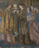 Red House: Close detail of one of three wall paintings by Burne-Jones in the Upstairs Drawing Room