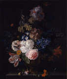 A FLORAL STILL LIFE by Jan van Huysum, (1682-1749),  at Dudmaston, Shropshire