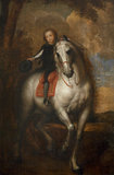 Sir Jeffrey Hudson (1619 - 1682) on Horseback