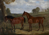 A Bay Horse and Pony in a Landscape