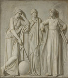 The Muses: Urania, Erato and Calliope