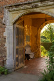 A view through the entrance arch at Sissinghurst Castle Garden