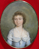 MARY PARMINTER, Minature by an unknown artist