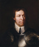 A portrait of Oliver Cromwell post conservation by Simon Folkes
