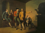 THE GRAND TOUR GROUP an oil painting by Philip Wickstead (1772-3) in the Dining Room at Springhill