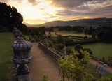 View from the Top Terrace of the garden at Powis Castle taken at dawn