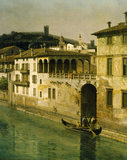 "Detail of painting ""VIEW OF VERONA"" by Bernardo Bellotto (1720-1780) POW"