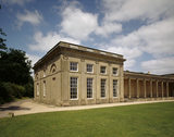 The West Pavilion (the Outer Library Pavilion) with colonnade at Attingham Park designed by George Steuart