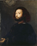 PORTRAIT OF A MAN by Titian, in the Smoking Room at Ickworth