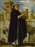 ST THOMAS AQUINAS by Adam Elsheimer (c1578-1610) from Petworth House