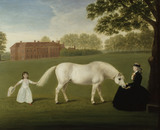 LADY STAWELL AND HER DAUGHTER MARY LEGGE, LATER LADY SHERBORNE painted by Dorofield Hardy after John Downman