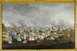 BATTLE OF THE TEXEL by Willem van de Velde The battle was fought in 1673 between the combined English and French fleets and the Dutch under Admiral de Ruyter