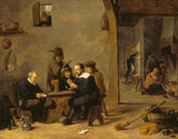 THE CARD PLAYERS by David Teniers the Younger (1610-1690) from Polesden Lacey