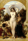 VENUS AND MARS by William Etty (1787-1849) displayed in The Library Corridor