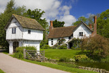 The Gatehouse, moat and Lower Brockhampton House, the medieval manor house on the Brockhampton Estate in Worcestershire