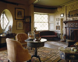 The Drawing Room looking from the Octagon door towards the windows and chimney-piece, showing the curvature of the wall