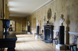 The Long Gallery at Mottisfont Abbey, Hampshire, with walls painted to simulate Sienna marble