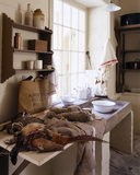 Partial view of the Scullery at Llanerchaeron