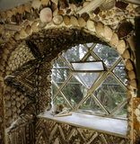 The shell encrusted surround to a window in the Shell Gallery