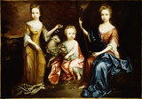 `THE LUCY SISTERS' by the C17th English School, after conservation by Simon Folkes